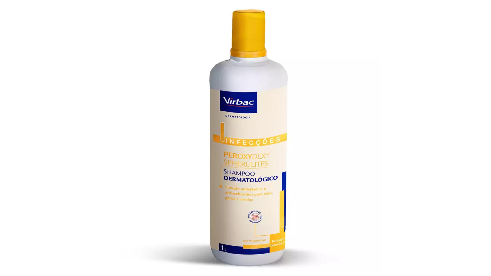 O shampoo Virbac Peroxydex Spherulites é ótimo para gatos com pele sensível (Imagem: Divulgação/Virbac)