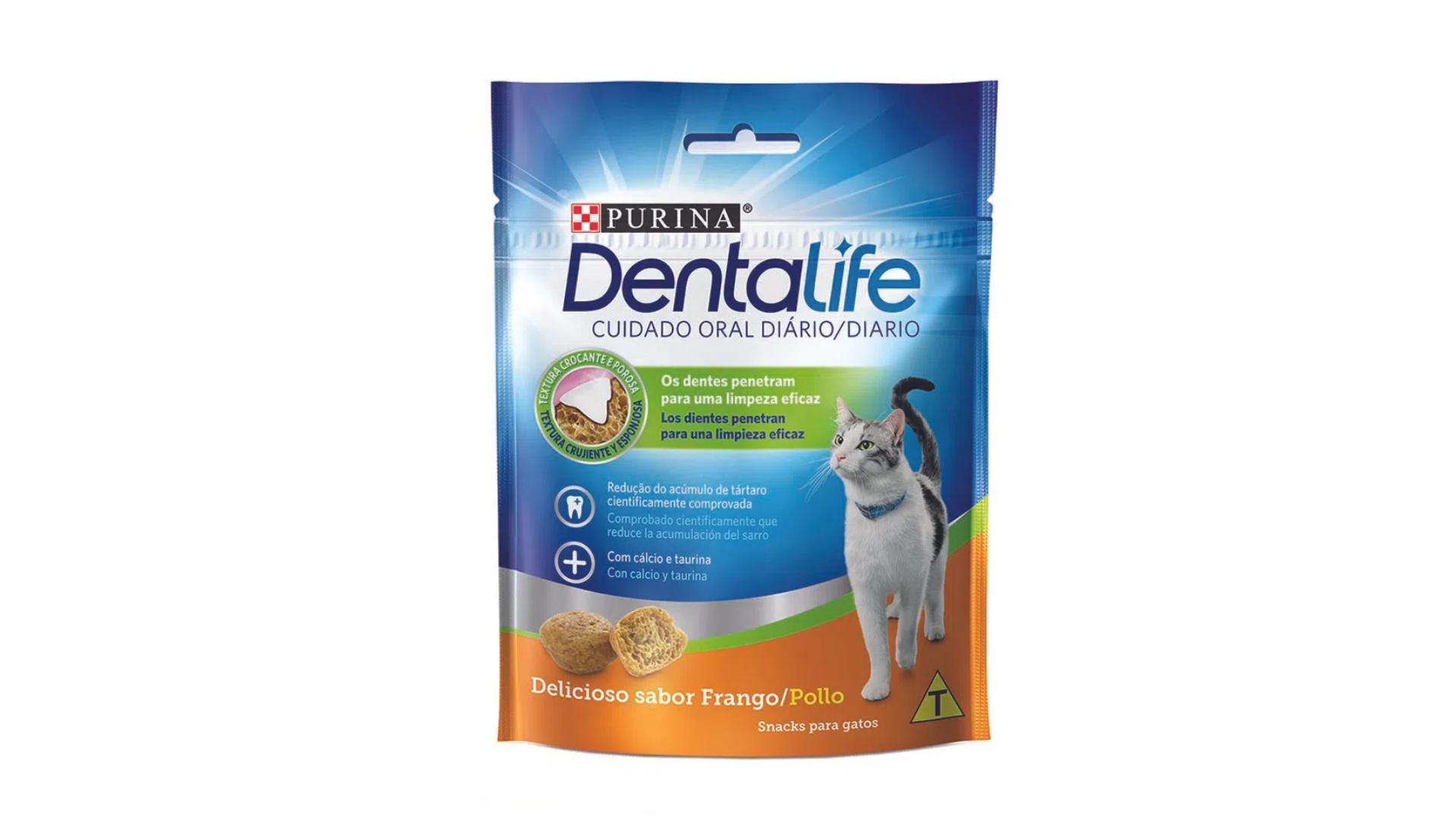O pestisco Purina DentaLife ajuda na higiene oral dos gatos (Divulgação/Nestlé)