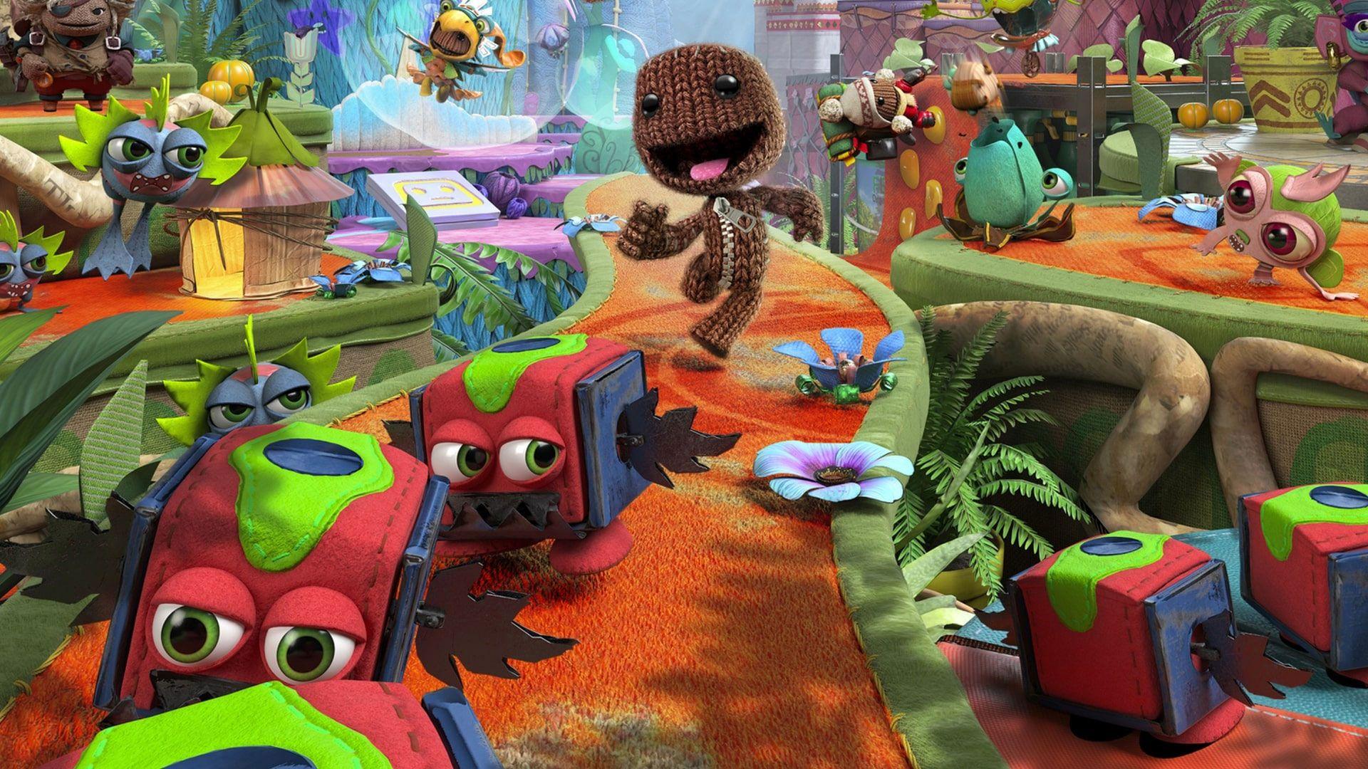 Sackboy: A Big Adventure traz o personagem da série LittleBigPlanet em uma aventura multiplayer no PS5. (Foto: Divulgação/Sony)