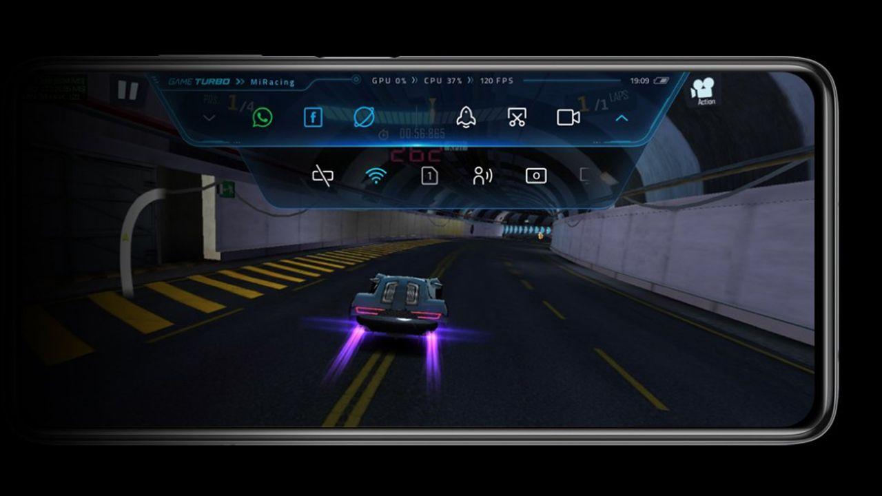 """Modo """"gamer"""" do Poco X3. (Foto: Divulgação/Xiaomi)"""