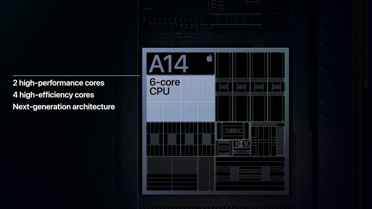 O Apple A14 Bionic é o primeiro processador com fabricação em 5 nn. (Foto: Divulgação/Apple)