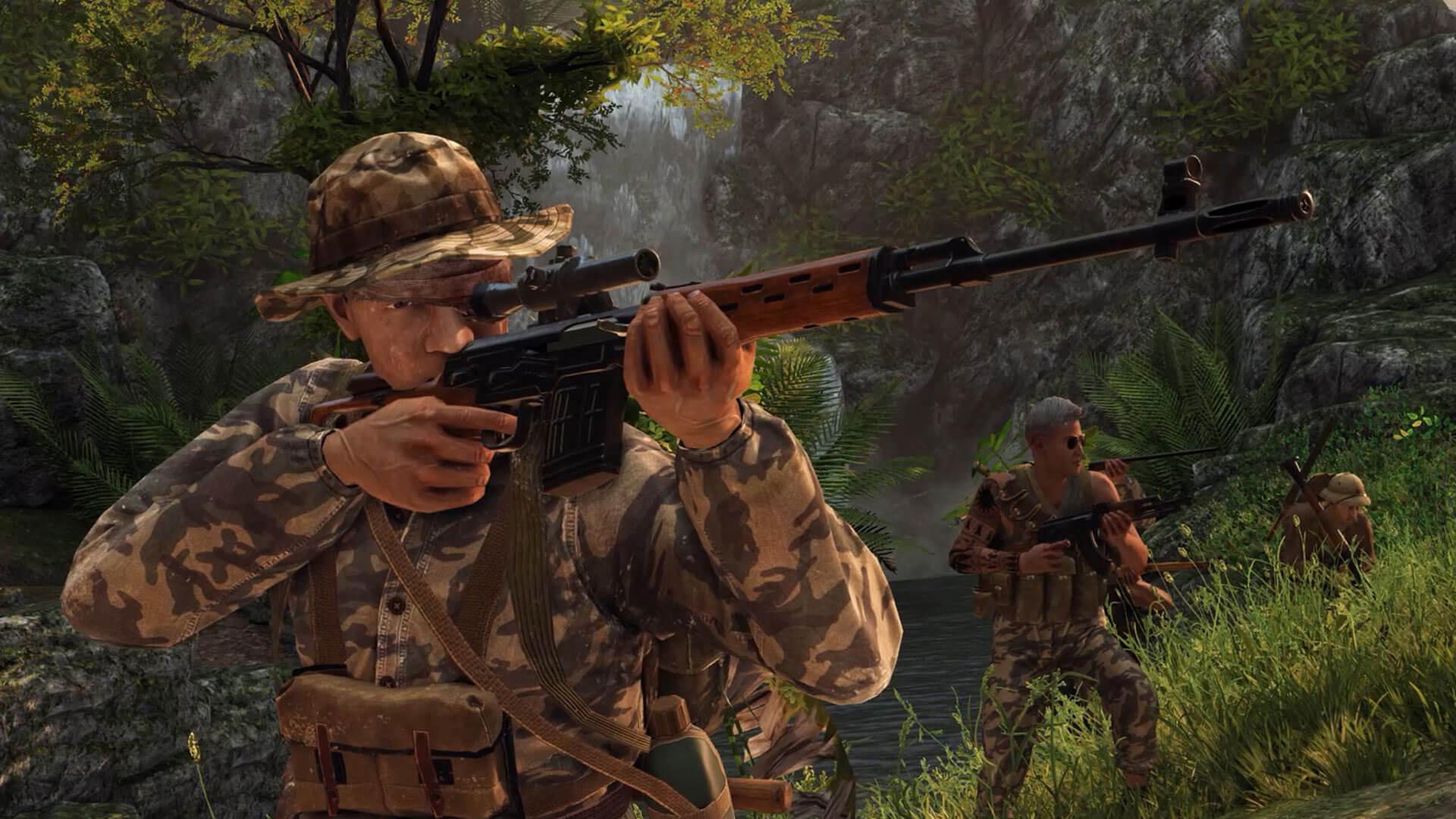 Rising Storm 2 tem modo multiplayer de até 64 jogadores e se passa na Guerra do Vietnã (Foto: Reprodução/Epic Games Store)