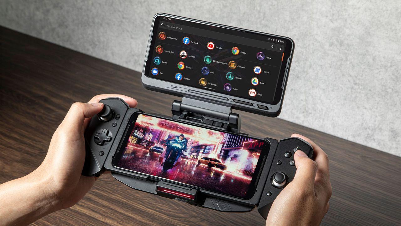 O TwinView Doc 3 dá uma segunda tela ao Rog Phone 3. (Foto: Divulgação/Asus)