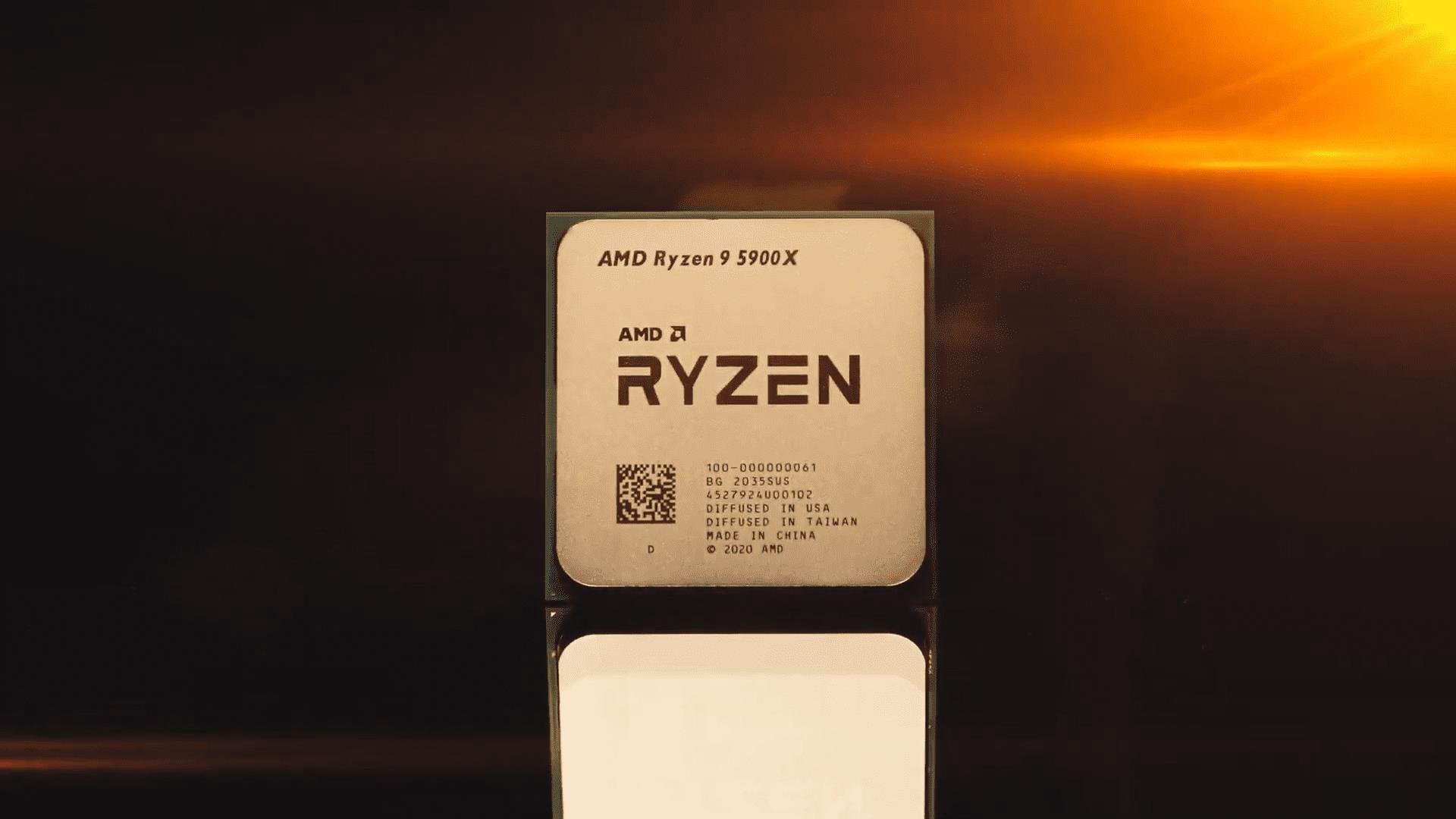 O Ryzen 9 5900X é o processador doméstico mais poderoso para games da AMD. (Foto: Reprodução/YouTube/AMD)