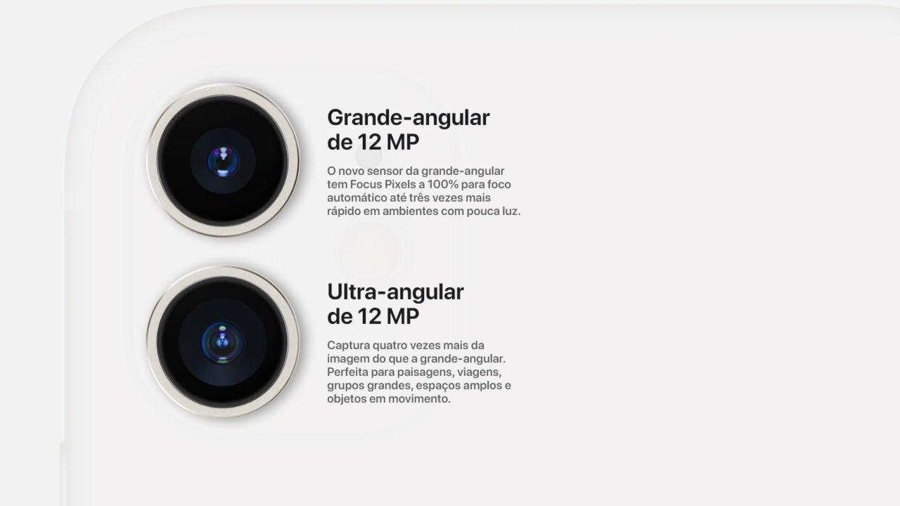 Câmeras traseiras do iPhone 11 (Foto: Reprodução/Apple)