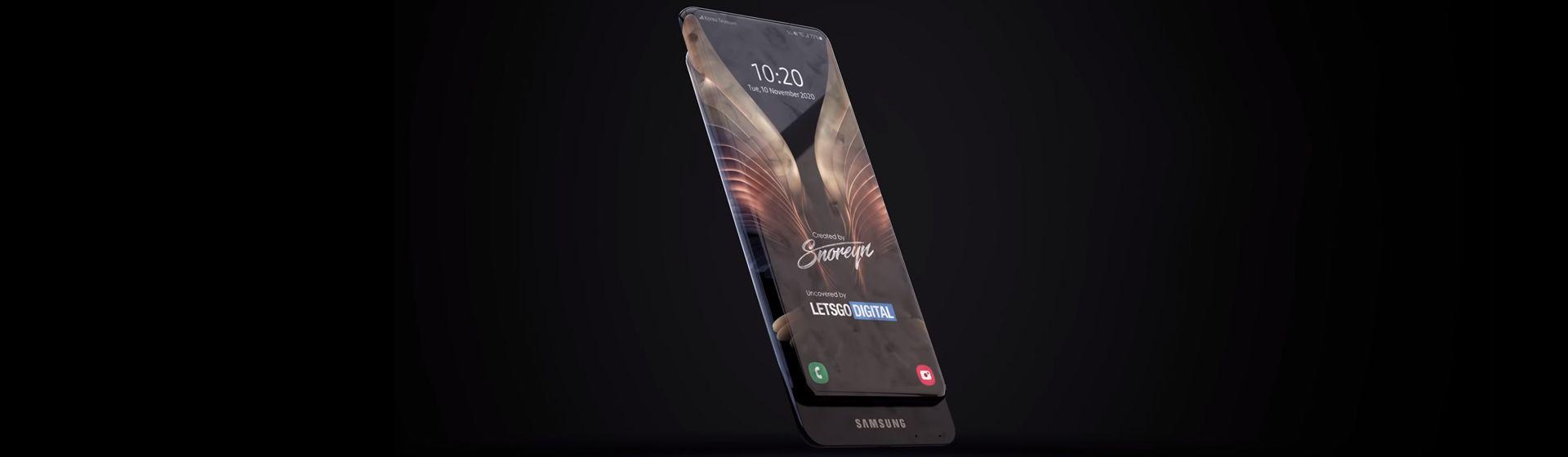Celular com tela no corpo todo? Nova patente da Samsung mostra Galaxy com display gigante