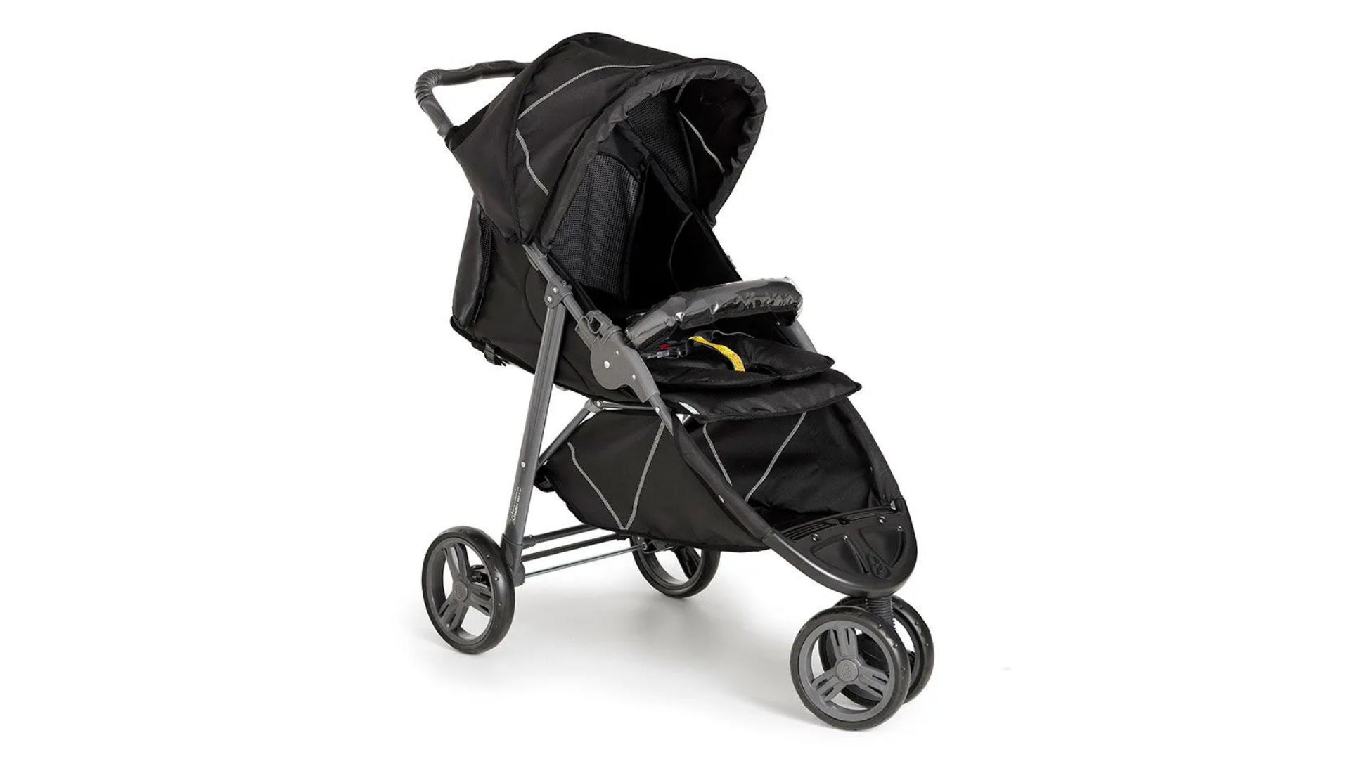 O carrinho de bebê de corrida normalmente conta com 3 rodas (Imagem: Divulgação/Galzerano)