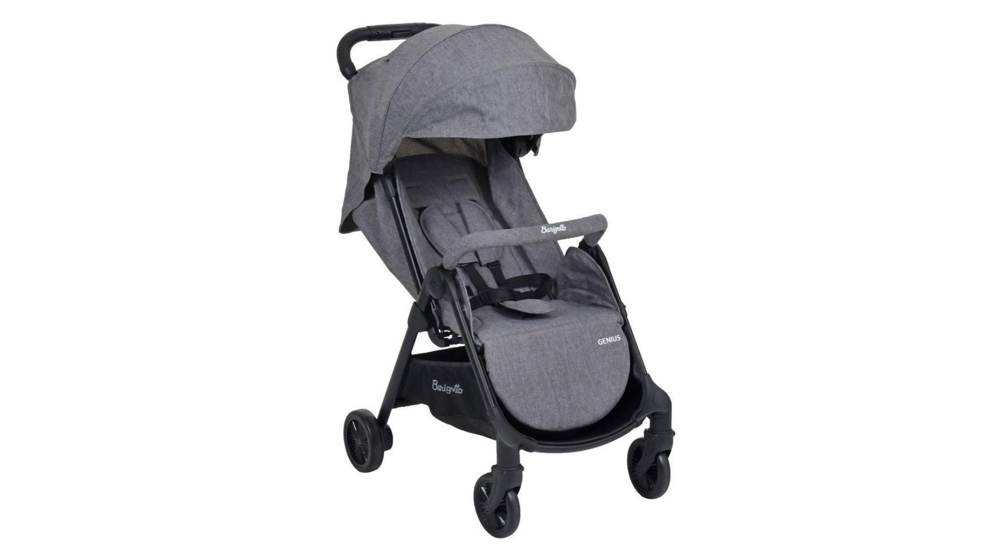 O carrinho de bebê com 4 rodas é o mais fácil de encontrar no mercado (Imagem: Divulgação/Burigotto)