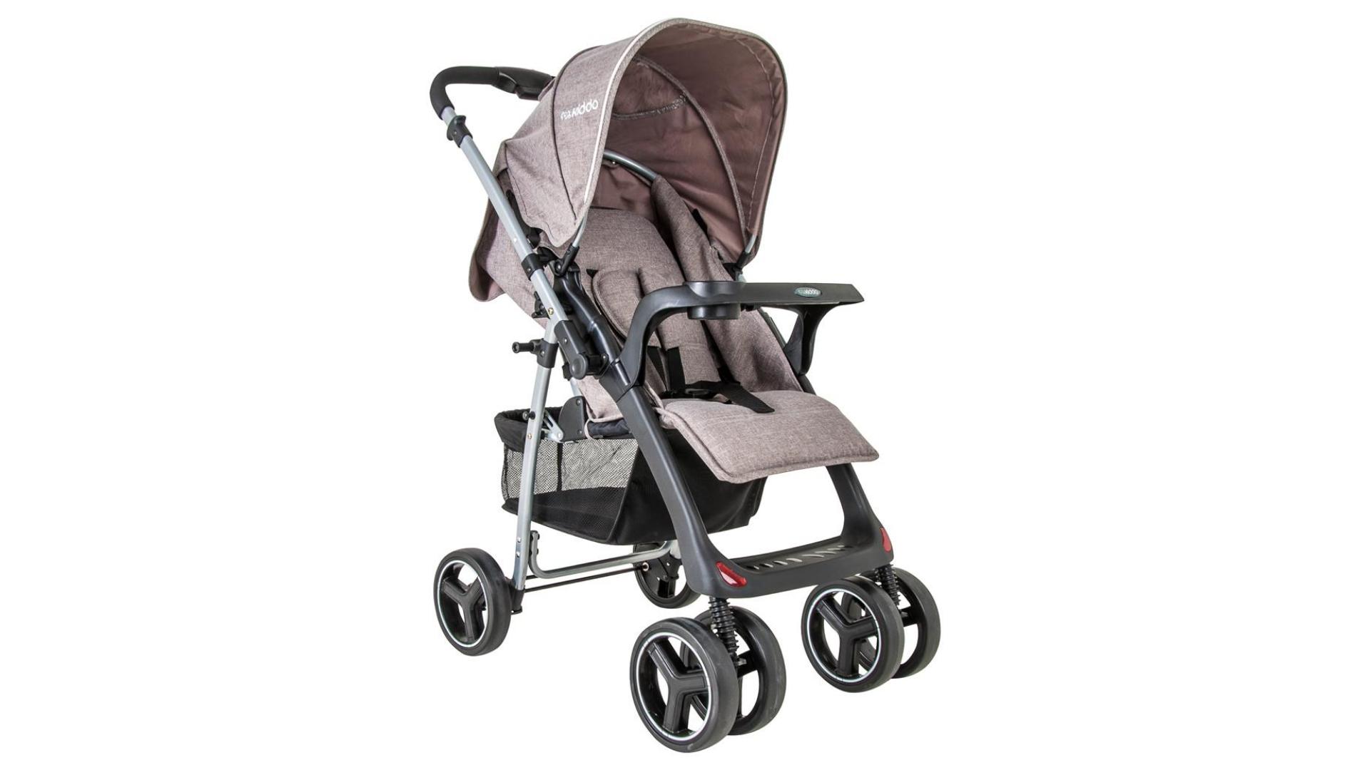 O carrinho de bebê com 6 rodas garante ainda mais estabilidade (Imagem: Divulgação/Kiddo)