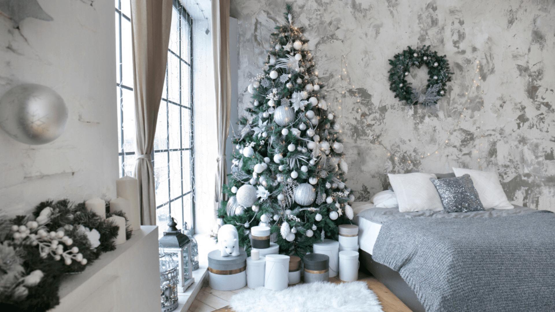 Árvore de Natal branca (Imagem: Reprodução/Shutterstock)