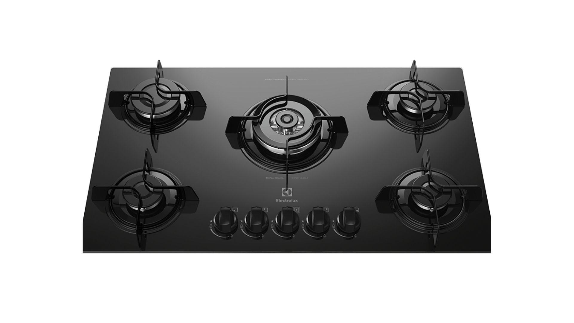 Cooktop Electrolux KE5TP tem um design clássico. (Imagem: Divulgação/Electrolux)