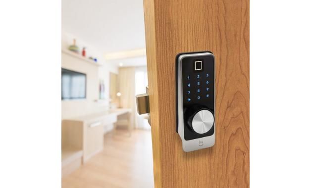 Fechadura Inteligente Geonav Wi-Fi com biometria, para uma smart home segura. (Imagem:Divulgação/Geonav)