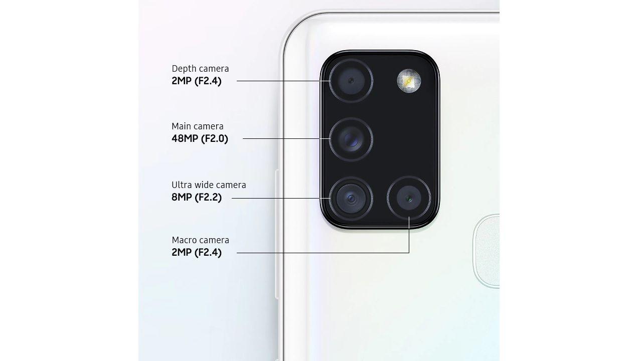 O conjunto quádruplo de câmeras traseiras confere mais versatilidade (Foto: Divulgação/Samsung)