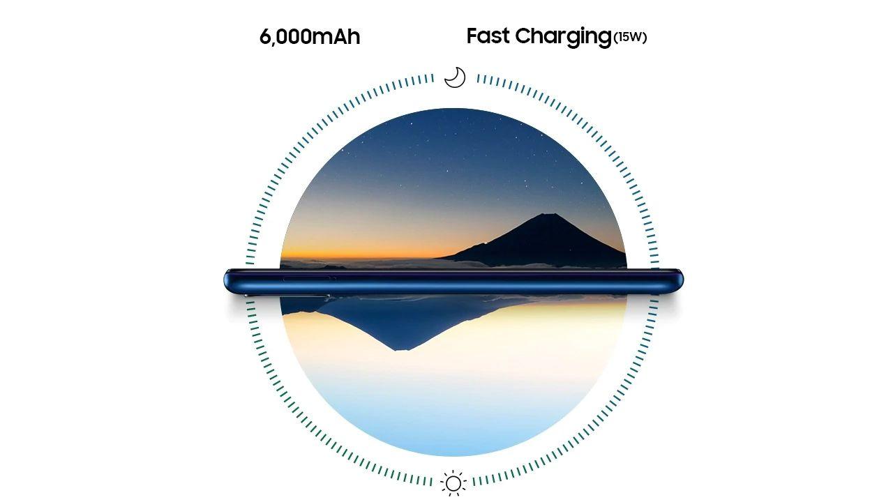 O Galaxy M31 tem bateria para dois dias de duração em uso moderado (Foto: Divulgação/Samsung)