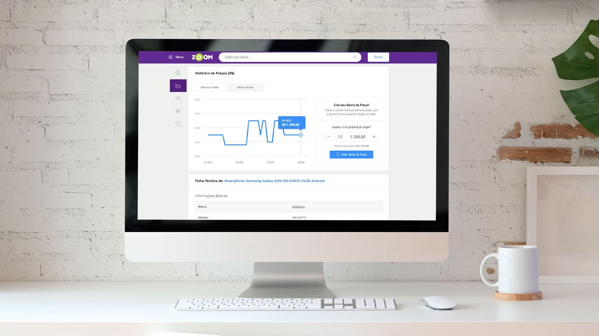 Confira a ferramenta de Histórico de Preços do Zoom (Zoom/Shutterstock)
