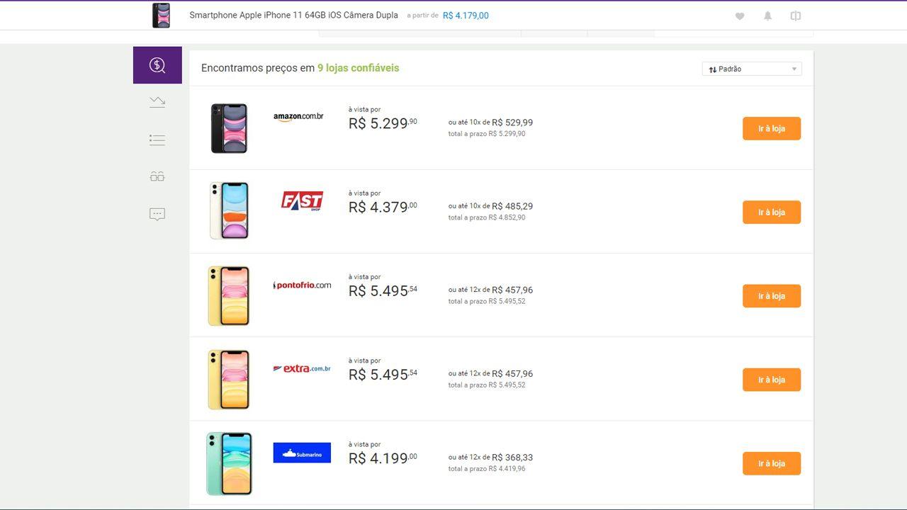O Zoom tem um sistema completo de busca e comparação de preços. (Foto: Divulgação/Zoom)