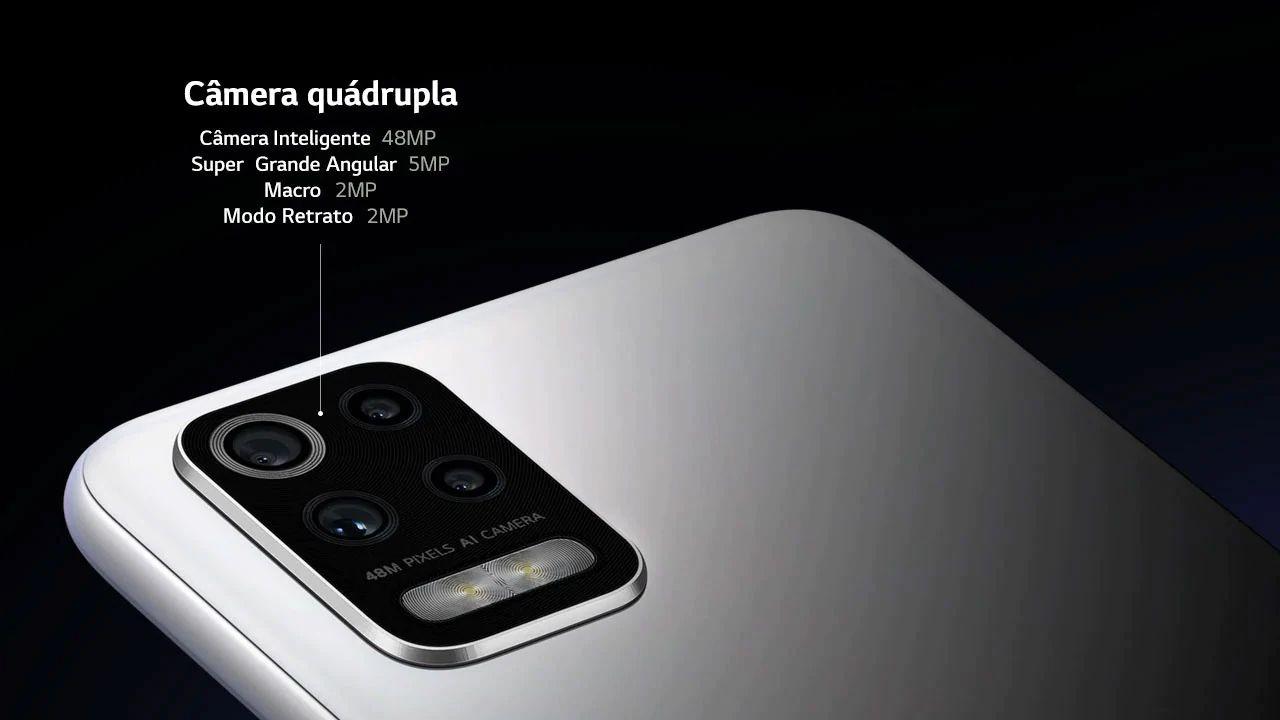 Conjunto de câmeras do LG K62+. (Foto: Divulgação/LG)
