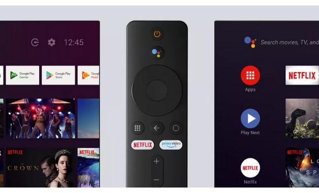 O botão colorido ativa o microfone para o comando de voz e o controle conta com acesso direto à Netflix e Prime Video. (Imagem:Divulgação/Xiaomi)
