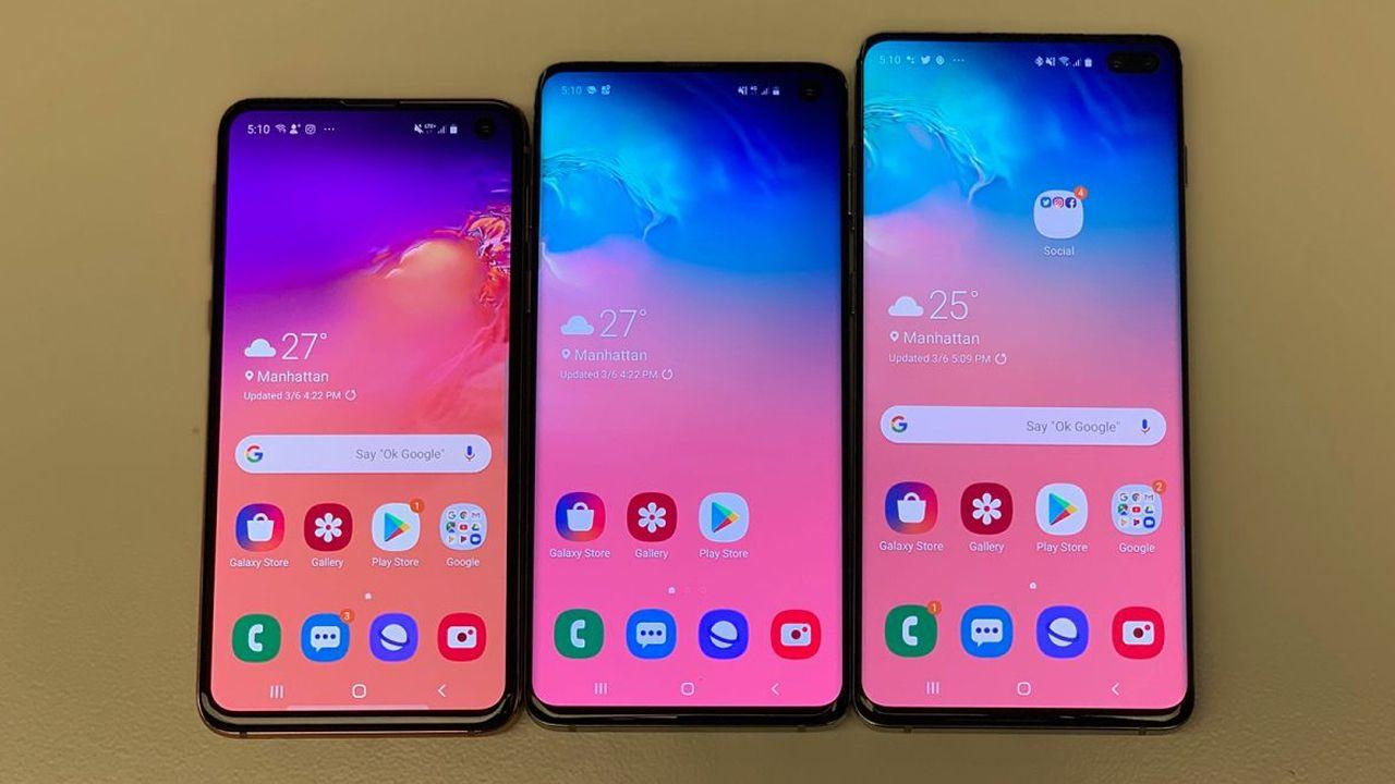 A linha Galaxy S10 tem três celulares de diferentes tamanhos (Foto: Divulgação/CNN)