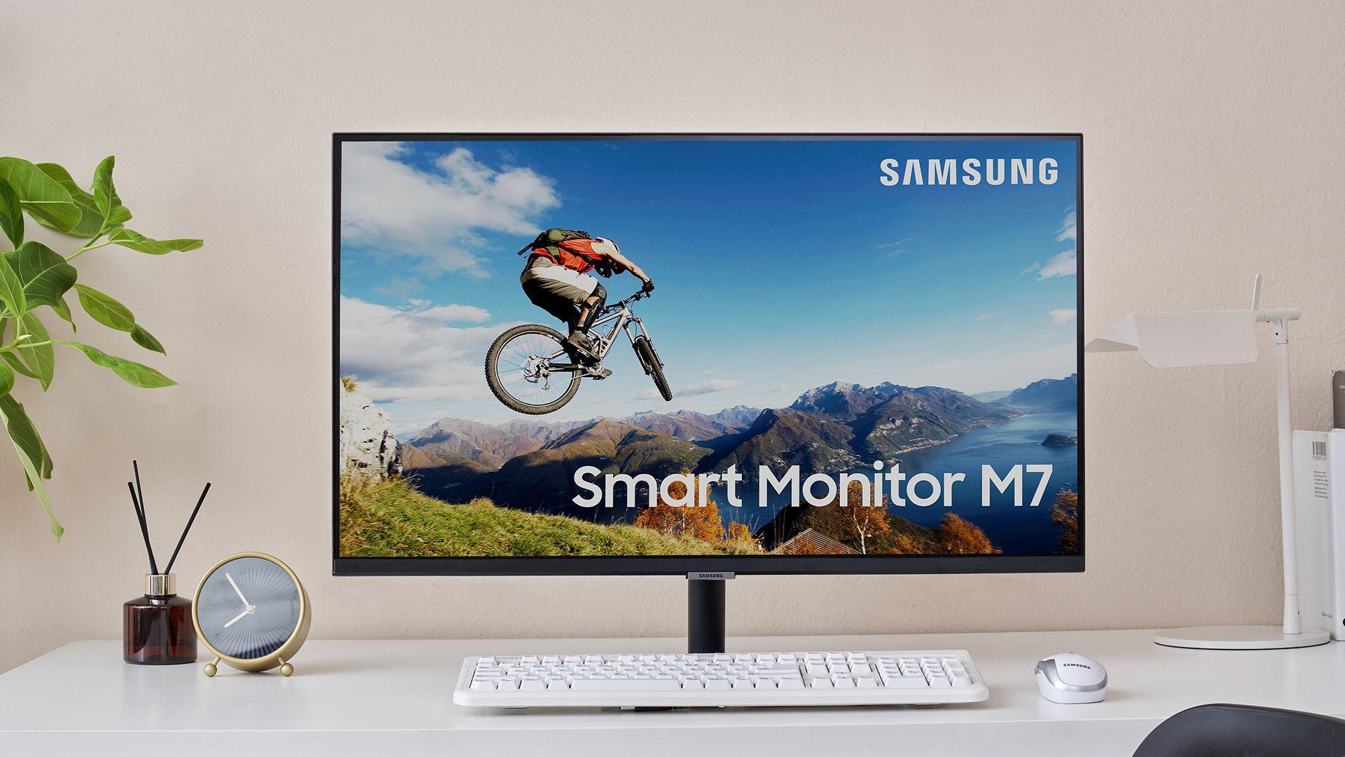 Smart Monitor M7 tem resolução 4K e tela de 32 polegadas (Foto: Divulgação/Samsung)