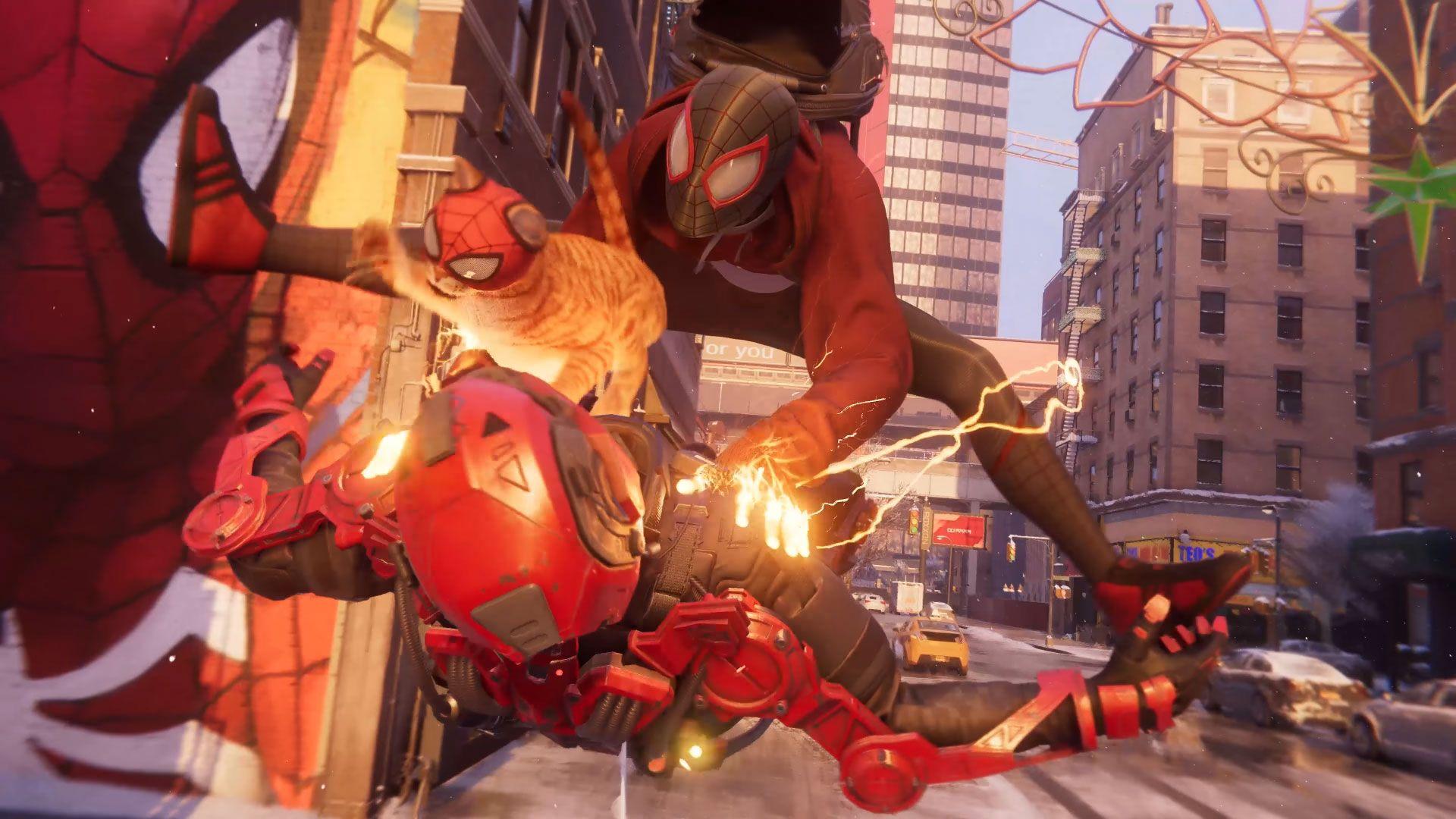 Spider-Man: Miles Morales traz um novo herói com poderes exclusivos e até mesmo um gato (Reprodução: Marvel Entertainment)