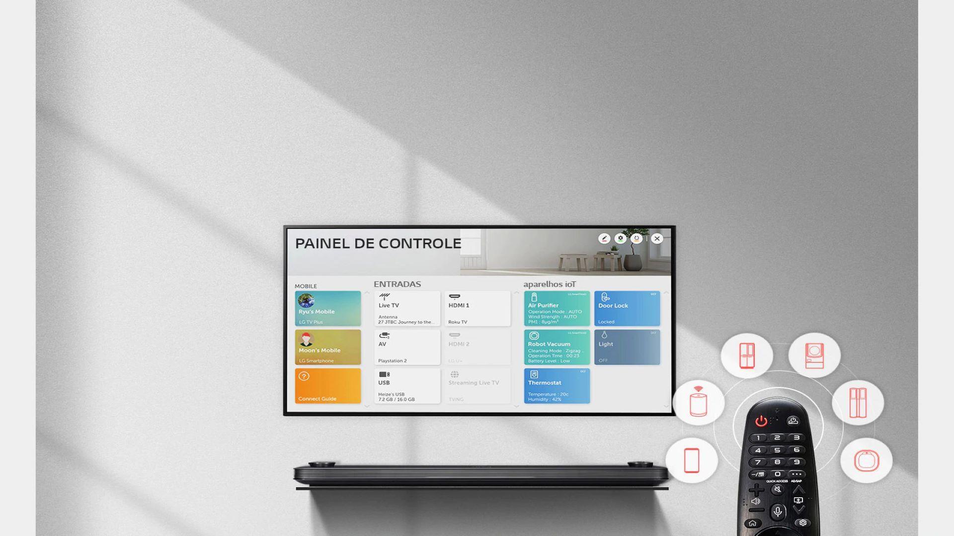 TV segue o conceito da casa conectada ao sincronizar dispositivos IoT (Foto: Divulgação/ LG)