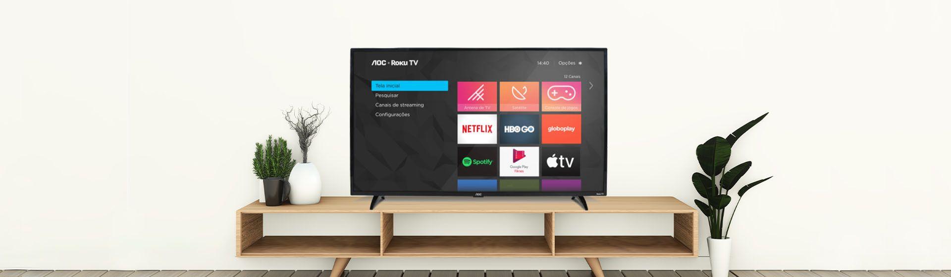 TV AOC S5195 vale a pena? Confira análise desse aparelho com Roku TV