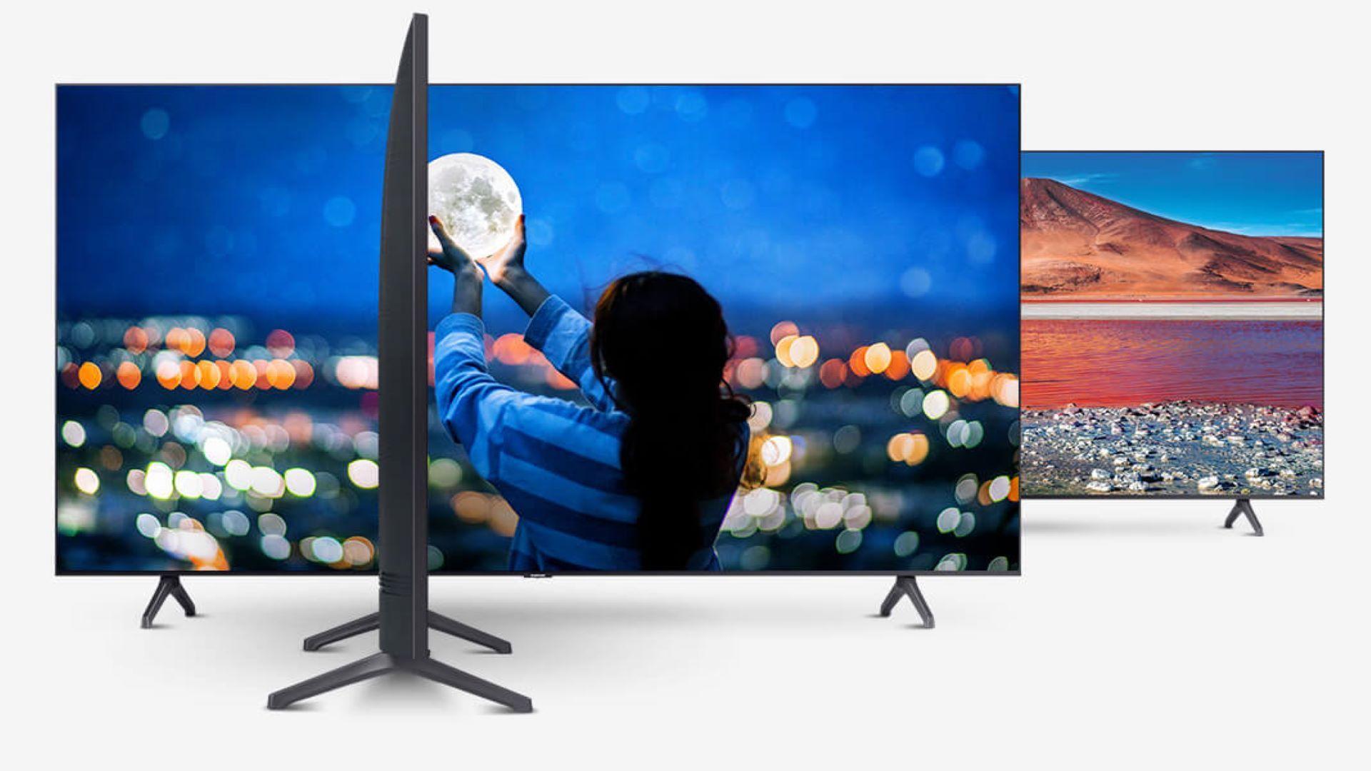 A TU7000 é uma das TVs UHD mais finas da categoria (Foto: Divulgação/ Samsung)