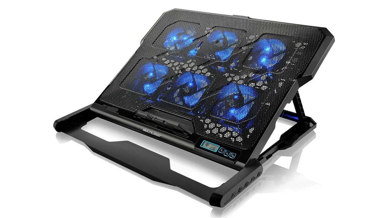 Base externa com cooler para notebook. (Foto: Divulgação/Multilaser)