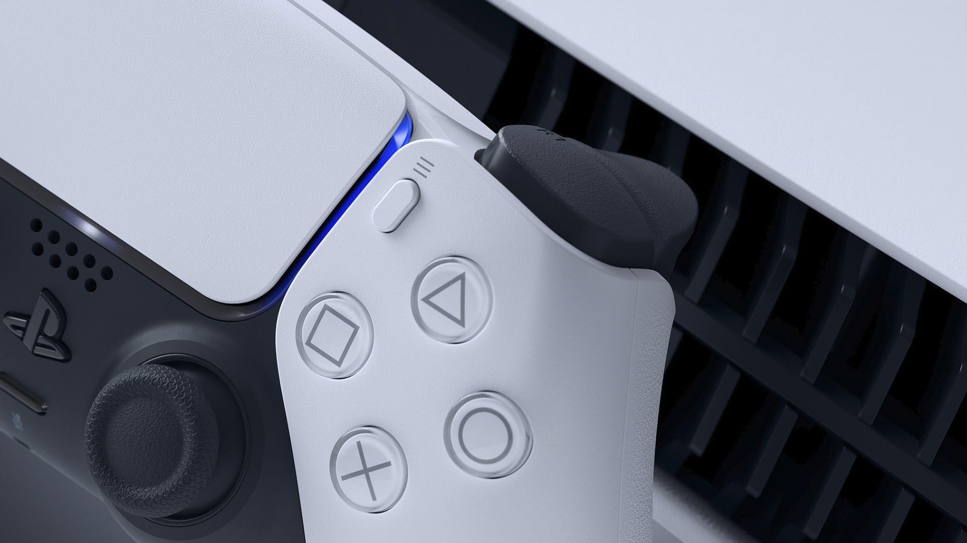 DualSense, controle do PS5, tem retorno tátil e gatilhos adaptáveis. (Foto: Divulgação/Sony)