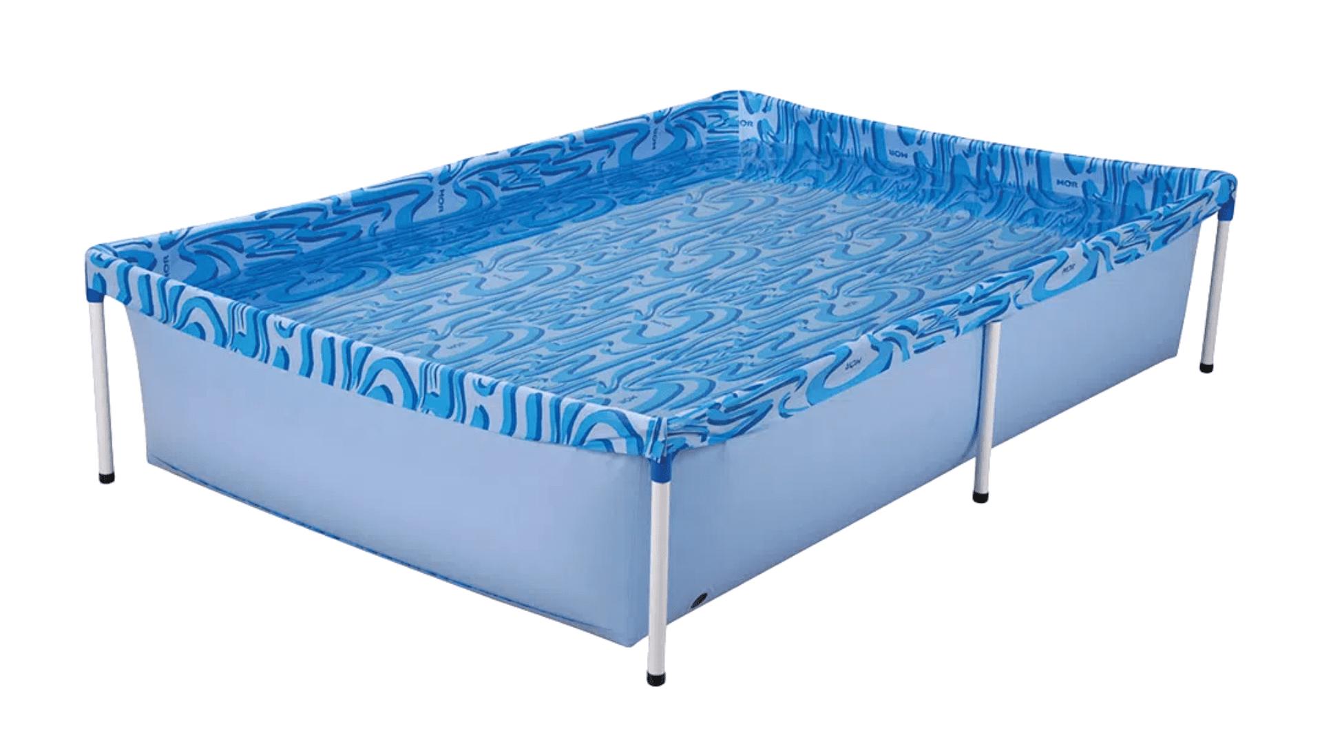 A lona da piscina de 1.000 litros da Mor é resistente e impermeável (Imagem: Divulgação/Mor)