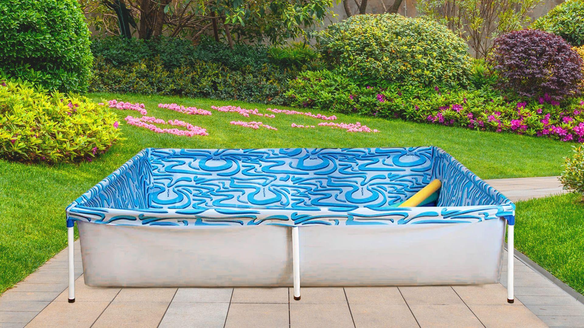 A piscina da Mor de 1.000 litros vem com dreno de saída de água (Imagem: Divulgação/Mor/Arte/Isabel Marlasca)