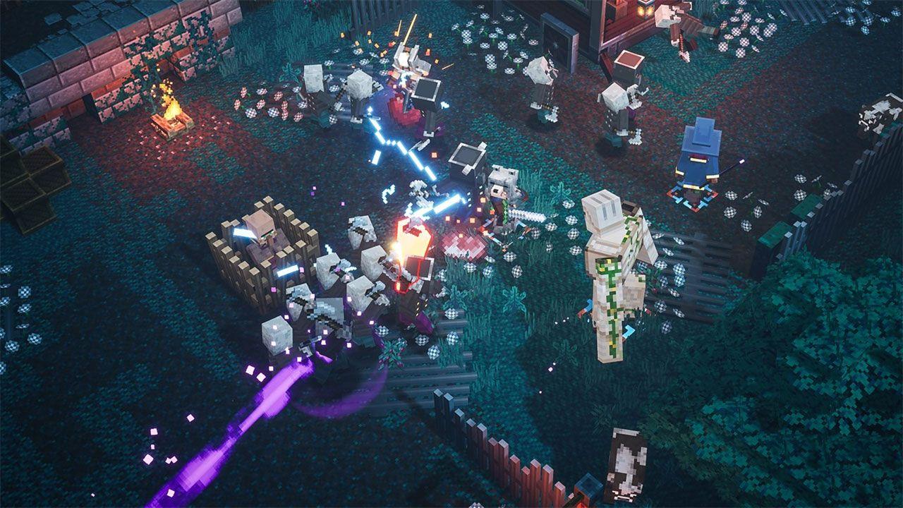 Minecraft Dungeons leva os personagens e monstros para um game de aventura e RPG multiplayer (Reprodução: Microsoft)