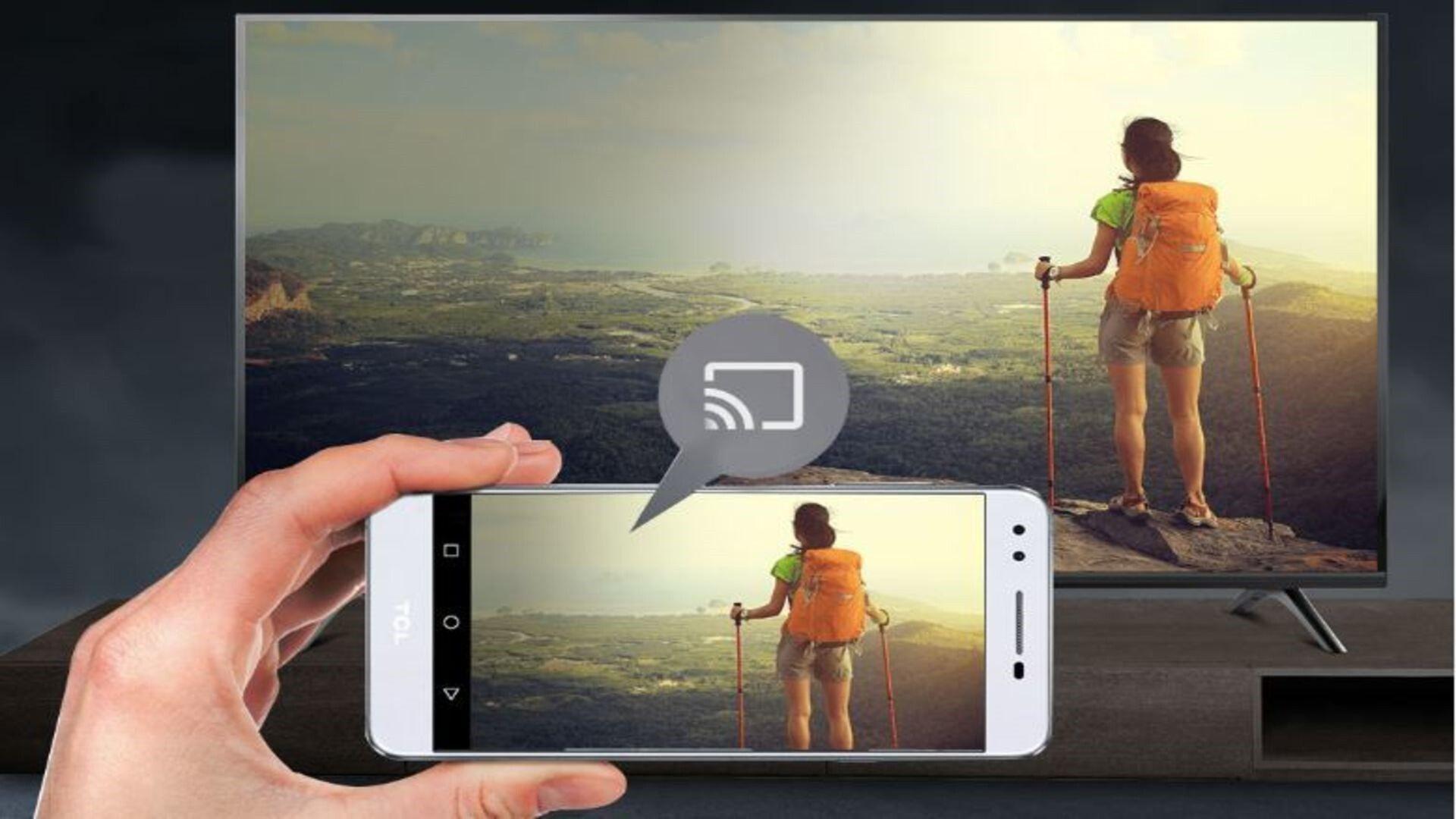 É possível espelhar a tela do celular na smart TV TCL 6500 (Imagem: Divulgação/TCL).