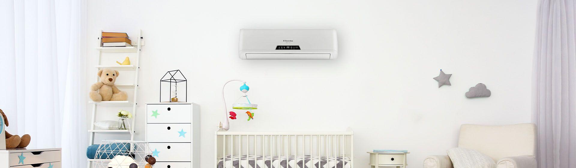 Melhor ar-condicionado para quarto de bebê