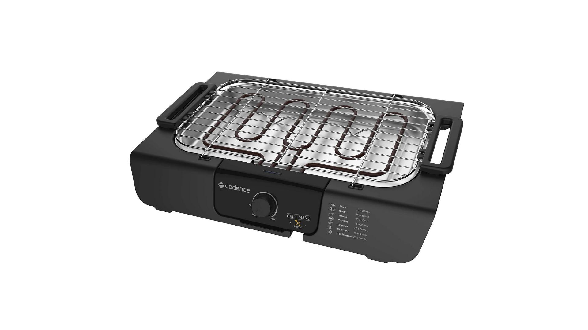 A churrasqueira elétrica é simples de instalar, porém consome bastante energia. (Imagem: Divulgação/Cadence)