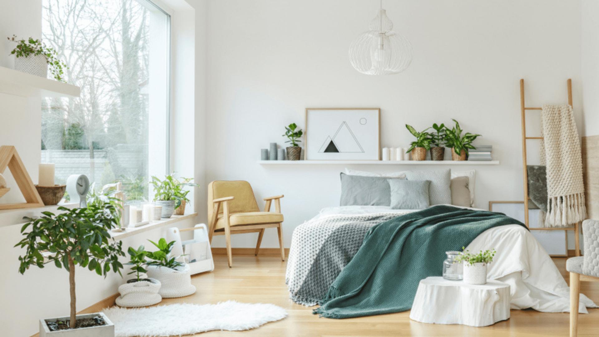 Use uma prateleira como cabeceira para deixar o quarto mais estiloso (Imagem: Reprodução/Shutterstock)