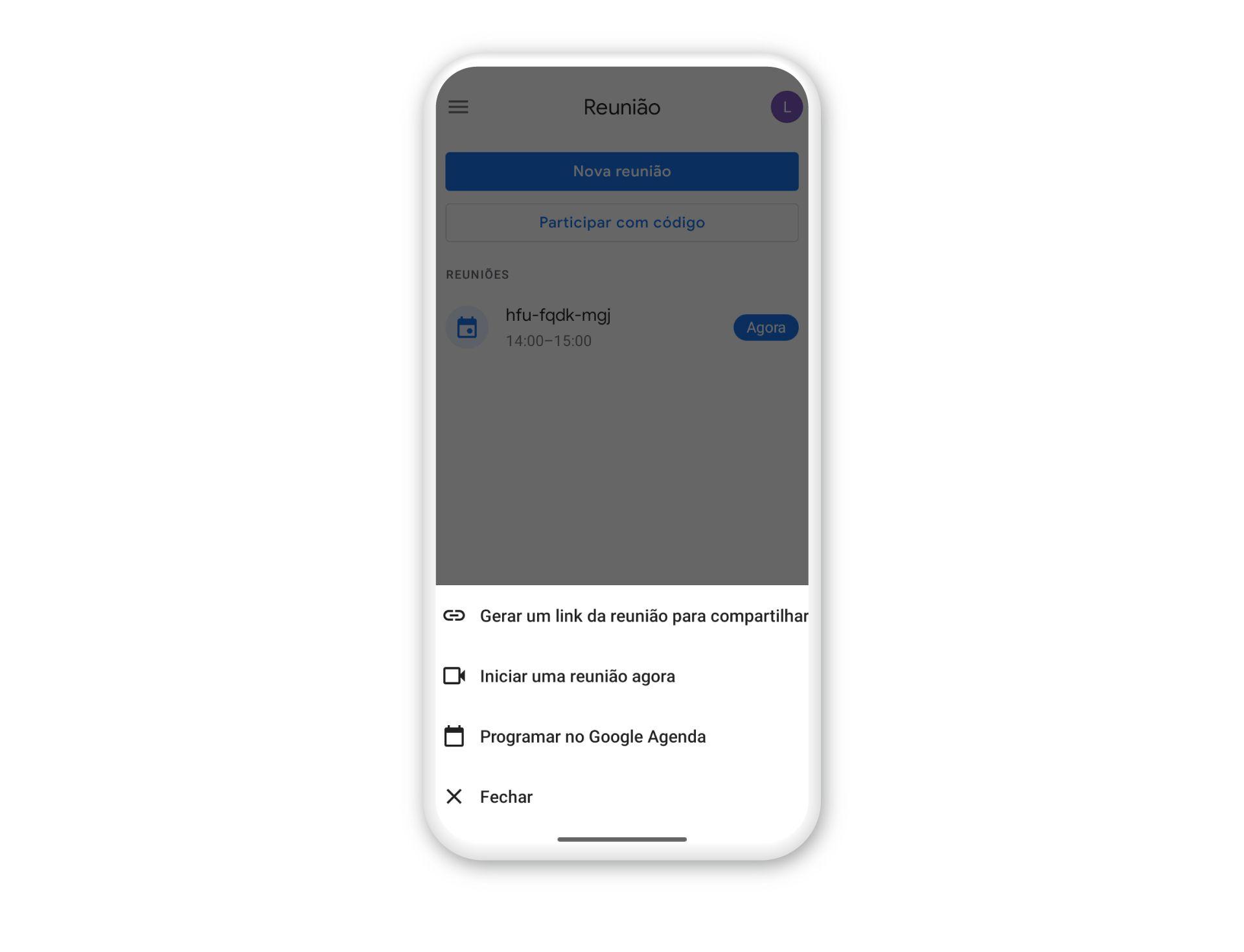 Para criar uma reunião no Google Meet basta apertar dois botões (Foto: Arte / Zoom)