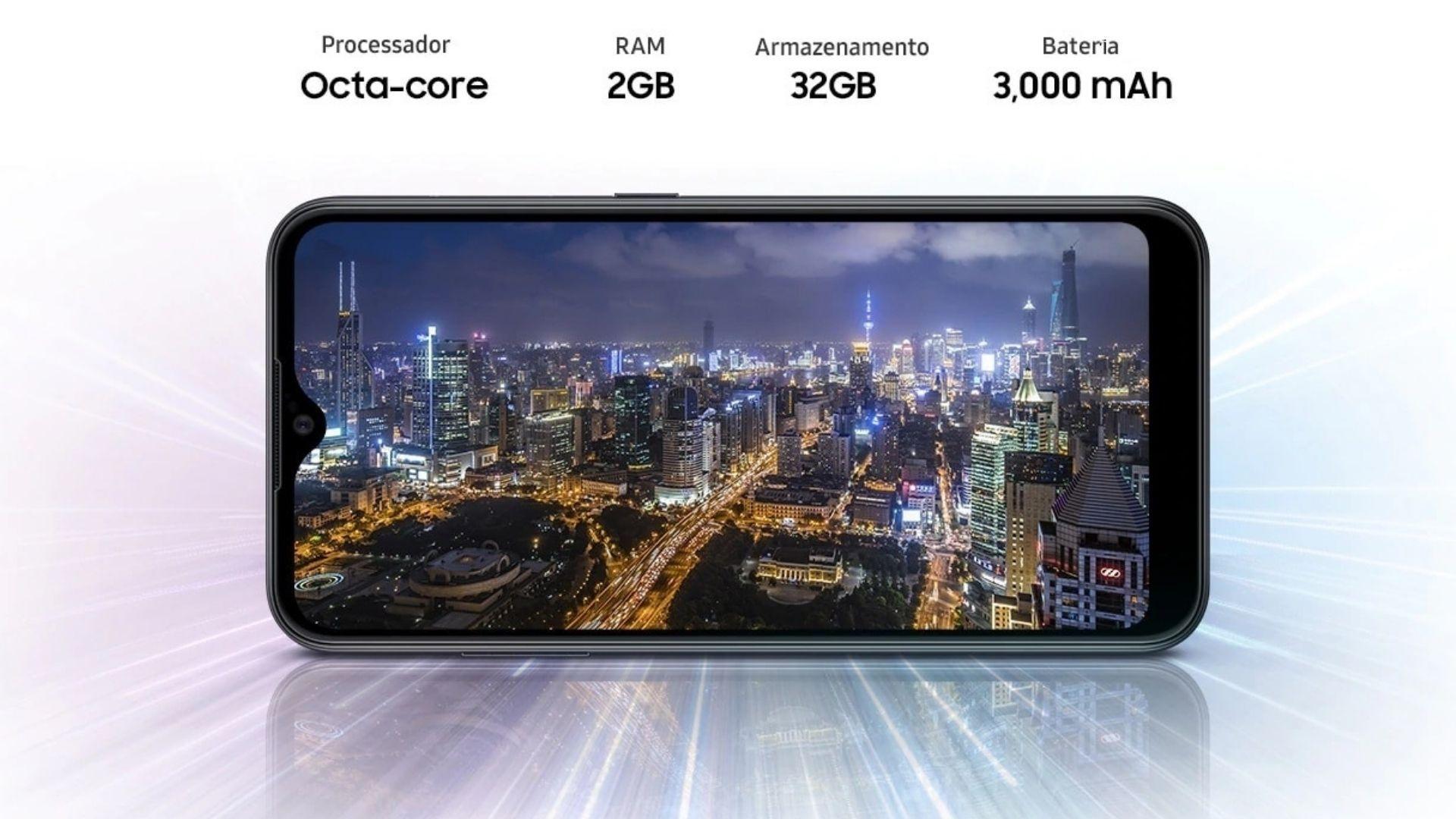 Samsung Galaxy A01 tem bateria de apenas 3.000 mAh (Foto: Divulgação/Samsung)