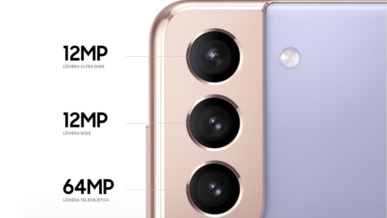 Câmeras do Galaxy S21 Plus (Foto: Divulgação/Samsung)