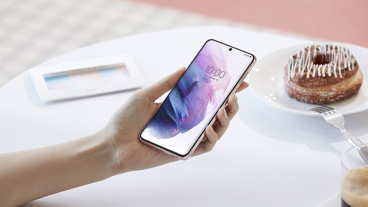 Tela do Galaxy S21 Plus (Foto: Divulgação/Samsung)