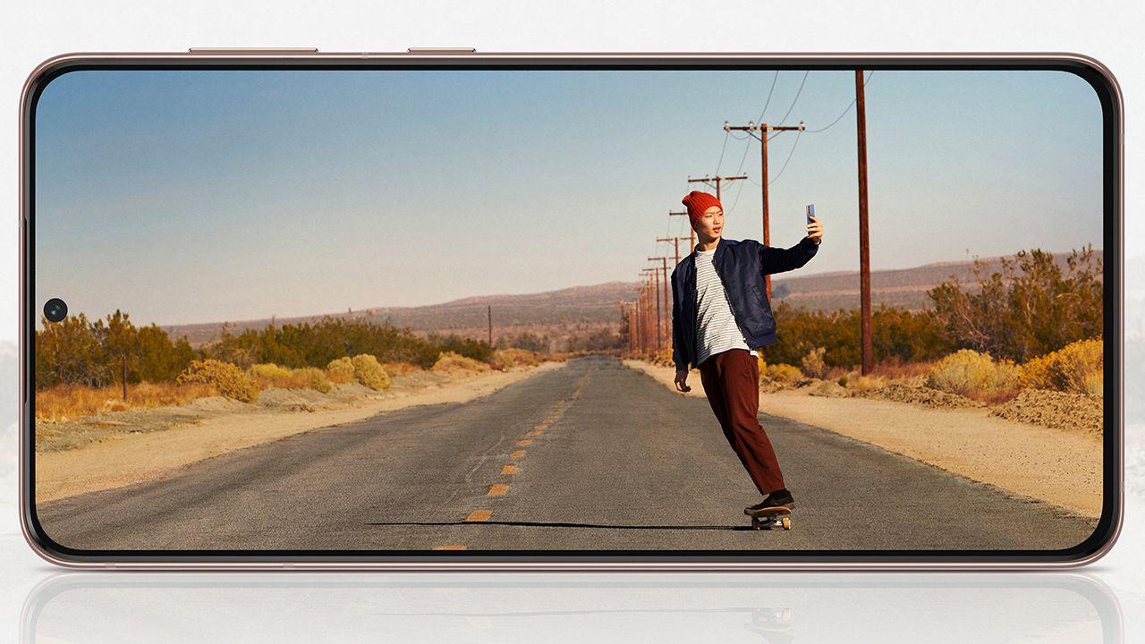 Tela do Galaxy S21 (Foto: Divulgação/Samsung)