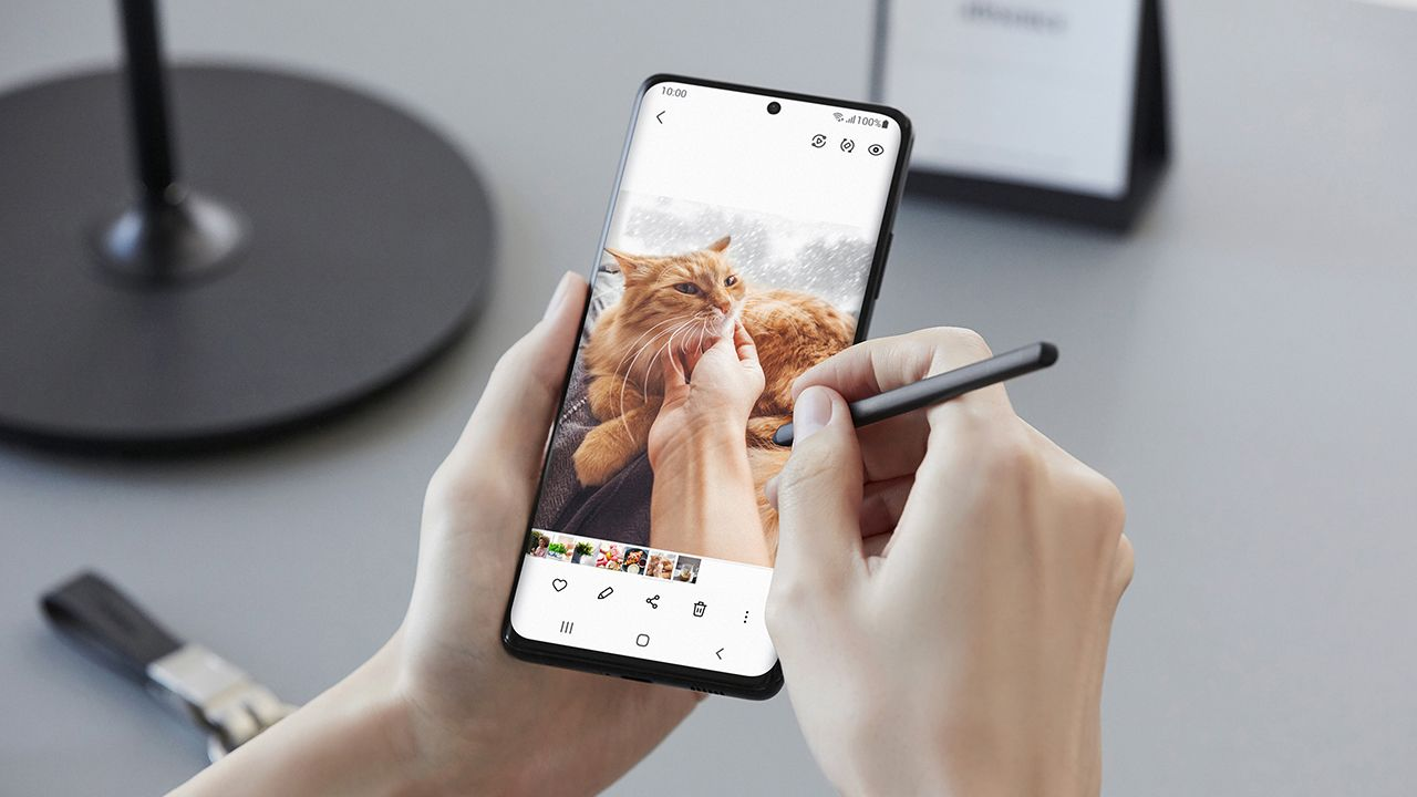 O Galaxy S21 Ultra tem suporte a S Pen (Foto: Divulgação/Samsung)