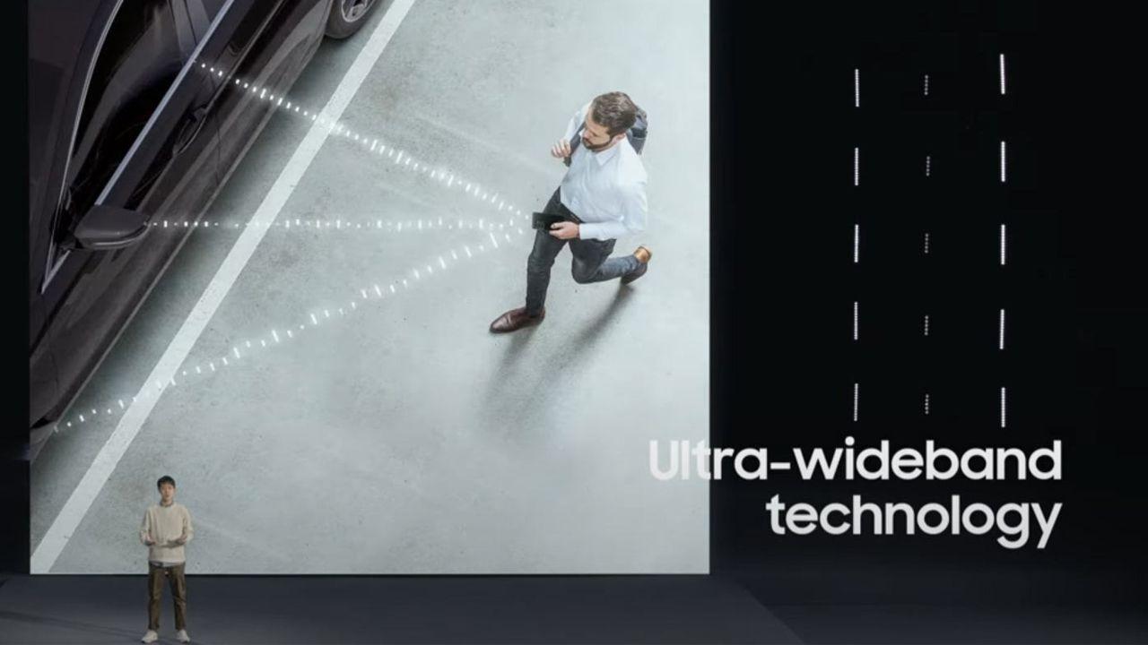 O Galaxy S21 Ultra pode ser usado como chave digital em carros inteligentes (Foto: Divulgação/Samsung)