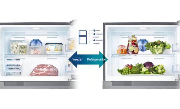 O diferencial da geladeira é o funcionamento independente do freezer e refrigerador, graças à tecnologia Twin Cooling Plus. (Imagem:Divulgação/Samsung)