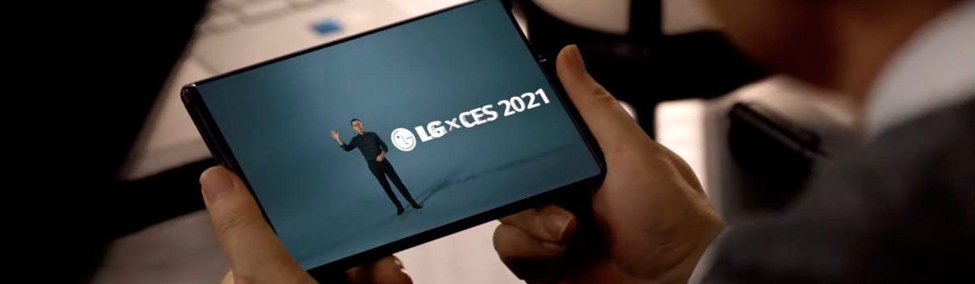 LG mostra pequeno teaser do seu celular com tela rolável na CES 2021