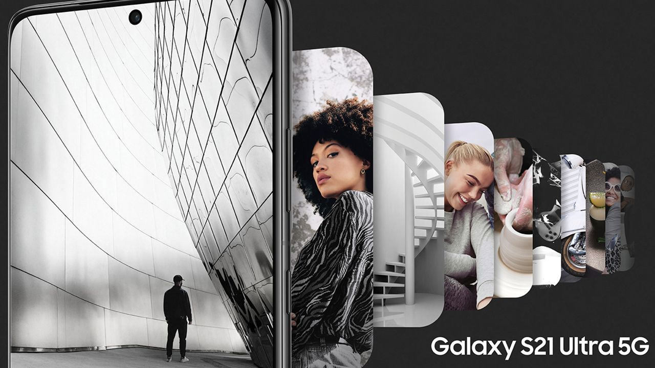 A Samsung destaca o grande espaço de armazenamento do S21 Ultra. (Foto: Divulgação/Samsung)