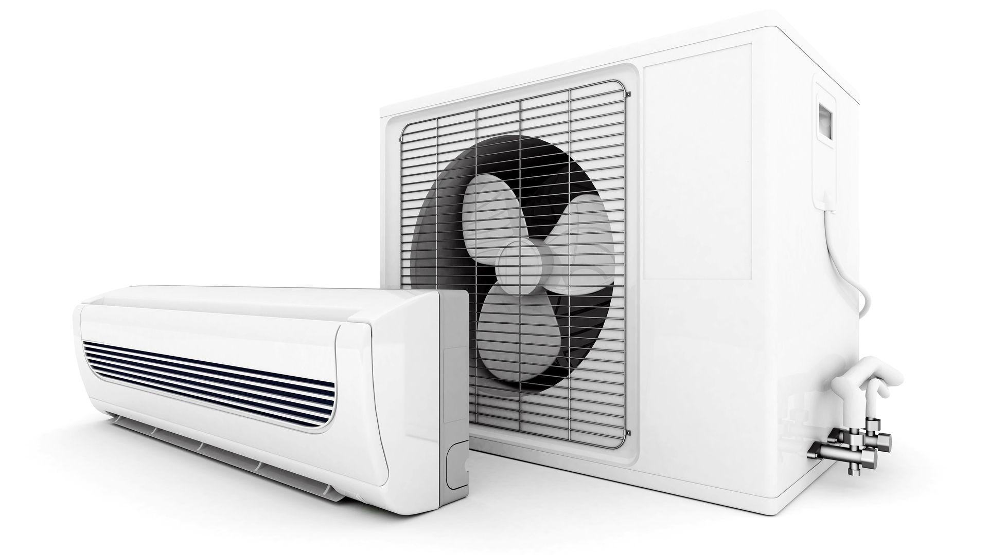 Componentes do ar condicionado split: condensadora e evaporadora (Imagem: Reprodução/Shutterstock)