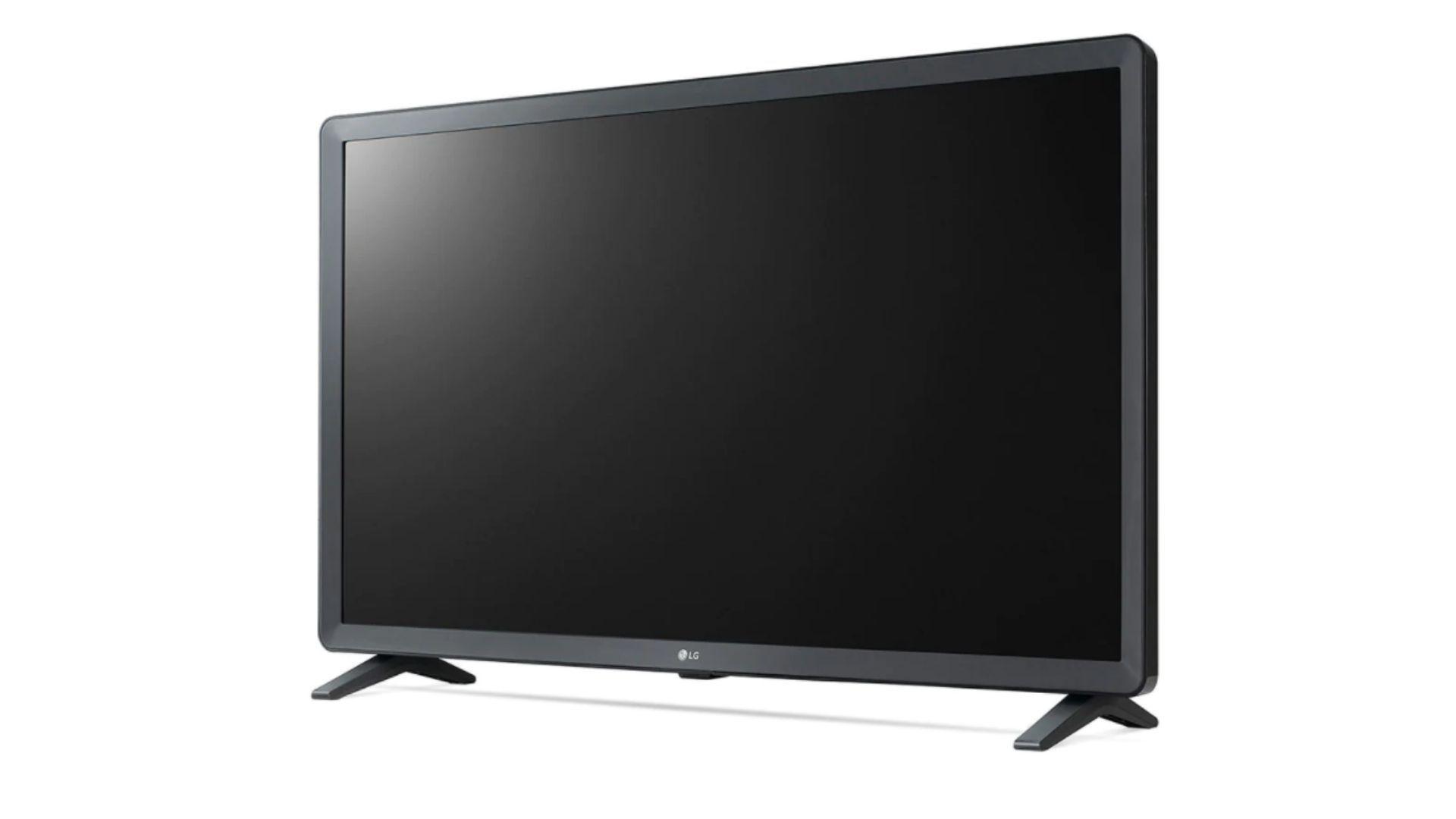 O design dessa Smart TV Lg é minimalista e possui dois pés laterais (Foto: Divulgação LG)