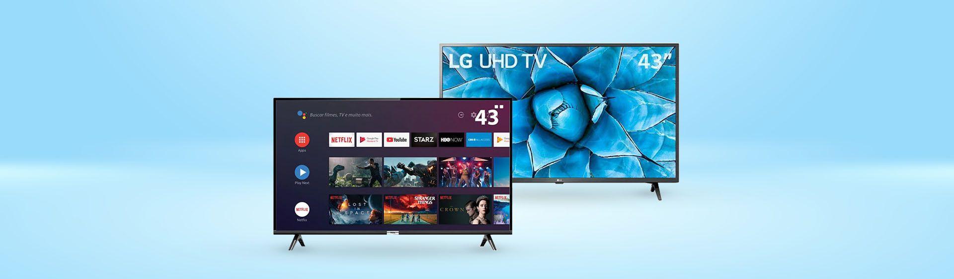 Smart TV de 43 polegadas: TCL S6500 vs LG UN7300, qual a melhor?